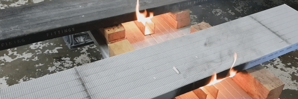 TechBoard Fire Test